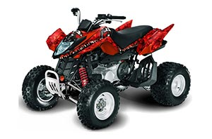 Arctic Cat DVX250 ATV Graphic Kit - All Years Reaper Red