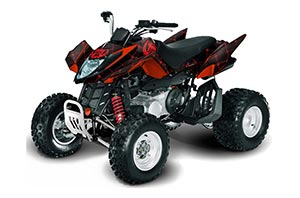 Arctic Cat DVX300 ATV Graphic Kit - All Years Silver Star - Reloaded Red
