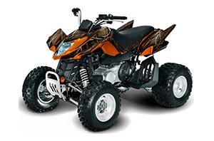 Arctic Cat DVX400 ATV Graphic Kit - All Years The One Orange