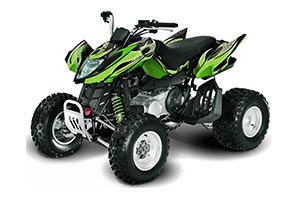 Arctic Cat DVX400 ATV Graphic Kit - All Years Tribal Flames Green