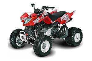 Arctic Cat DVX400 ATV Graphic Kit - All Years P40 Warhawk Red