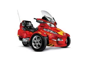 Can Am BRP (RTS) Spyder Graphic Kit - 2010-2012 Meltdown Red
