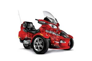 Can Am BRP (RTS) Spyder Graphic Kit - 2010-2012 Reaper Red
