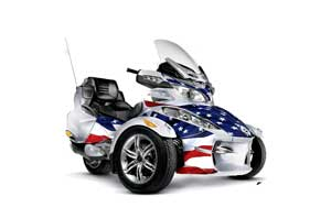 Can Am BRP (RTS) Spyder Graphic Kit - 2010-2012 Stars and Stripes