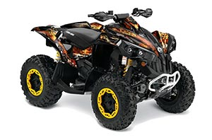 Can Am Renegade 500x/r / 800x/r ATV Graphic Kit - All Years Firestorm Black
