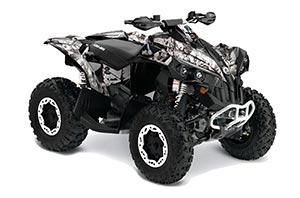 Can Am Renegade 500x/r / 800x/r ATV Graphic Kit - All Years Mad Hatter White