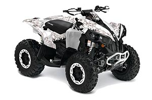 Can Am Renegade 500x/r / 800x/r ATV Graphic Kit - All Years Reaper White