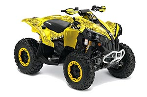 Can Am Renegade 500x/r / 800x/r ATV Graphic Kit - All Years Reaper Yellow
