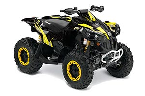 Can Am Renegade 500x/r / 800x/r ATV Graphic Kit - All Years Tribal Flames Yellow