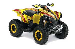 Can Am Renegade 500 / 800 / 1000 ATV Graphic Kit - All Years Mad Hatter Red