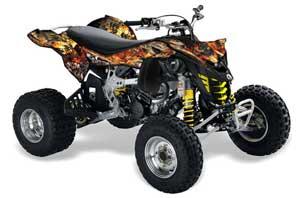 Can Am DS450 / DS450X EFI ATV Graphic Kit - 2008-2016 Firestorm Black