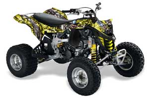 Can Am DS450 / DS450X EFI ATV Graphic Kit - 2008-2016 Mad Hatter Silver