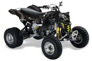 Can Am DS450 / DS450X EFI ATV Graphic Kit - 2008-2016 Reaper Black