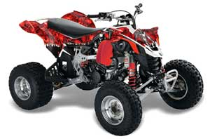 Can Am DS450 / DS450X EFI ATV Graphic Kit - 2008-2016 Reaper Red