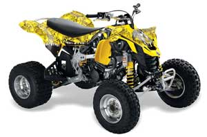 Can Am DS450 / DS450X EFI ATV Graphic Kit - 2008-2016 Reaper Yellow
