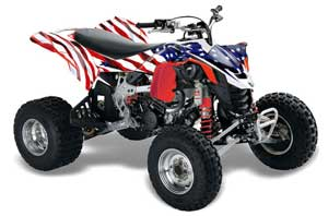 Can Am DS450 / DS450X EFI ATV Graphic Kit - 2008-2016 Stars n Stripes Red