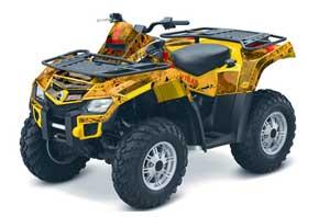 Can Am Outlander EFI 500 / 650 / 800 / 1000 ATV Graphic Kit - 2006-2011 Meltdown Red