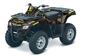 Can Am Outlander EFI 500 / 650 / 800 / 1000 ATV Graphic Kit - 2006-2011 Meltdown Yellow