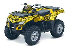 Can Am Outlander EFI 500 / 650 / 800 / 1000 ATV Graphic Kit - 2006-2011 Motor Head Yellow