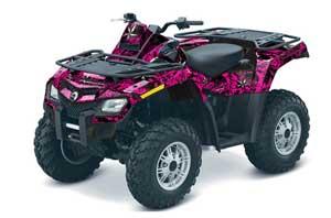 Can Am Outlander EFI 500 / 650 / 800 / 1000 ATV Graphic Kit - 2006-2011 North Star Pink