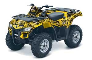 Can Am Outlander EFI 500 / 650 / 800 / 1000 ATV Graphic Kit - 2006-2011 North Star Yellow