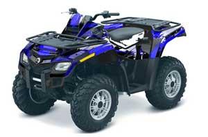 Can Am Outlander EFI 500 / 650 / 800 / 1000 ATV Graphic Kit - 2006-2011 Carbon X Blue