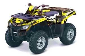 Can Am Outlander EFI 500 / 650 / 800 / 1000 ATV Graphic Kit - 2006-2011 Carbon X Yellow