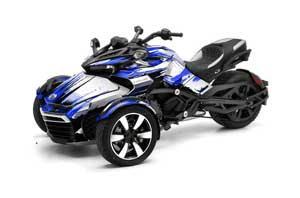 Can Am F3-S Spyder Graphic Kit - All Years Carbon X Blue