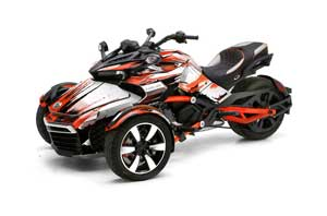 Can Am F3-S Spyder Graphic Kit - All Years Carbon X Orange
