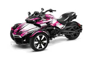 Can Am F3-S Spyder Graphic Kit - All Years Carbon X Pink