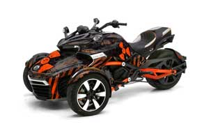 Can Am F3-S Spyder Graphic Kit - All Years Meltdown Orange