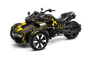 Can Am F3-S Spyder Graphic Kit - All Years Meltdown Yellow