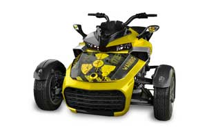 Can Am F3-S Spyder Hood Graphic Kit - All Years Meltdown Yellow