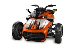 Can Am F3-S Spyder Hood Graphic Kit - All Years Carbon X Orange