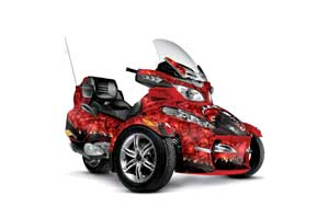 Can Am BRP (RTS) Spyder w/ Trim Kit Graphic Kit - 2010-2012 Reaper Red