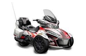 Can Am BRP (RTS) Spyder Graphic Kit - 2014-2016 Carbon X Red