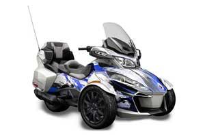 Can Am BRP (RTS) Spyder Graphic Kit - 2014-2016 Carbon X Blue