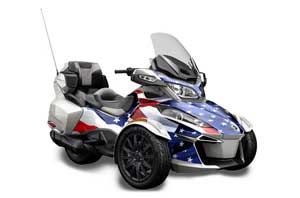 Can Am BRP (RTS) Spyder Graphic Kit - 2014-2016 Stars n Stripes