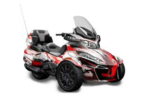 Can Am BRP (RTS) Spyder w/ Trim Kit Graphic Kit - 2013-2016 Carbon X Red