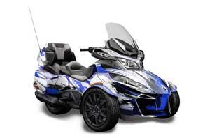 Can Am BRP (RTS) Spyder w/ Trim Kit Graphic Kit - 2013-2016 Carbon X Blue