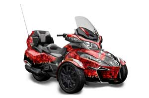 Can Am BRP (RTS) Spyder w/ Trim Kit Graphic Kit - 2013-2016 Reaper Red