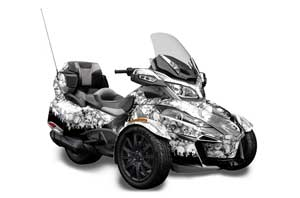 Can Am BRP (RTS) Spyder w/ Trim Kit Graphic Kit - 2013-2016 Reaper White