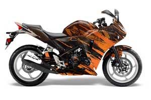 Honda CBR 250R Graphic Kit - 2010-2013 Carbon X Orange
