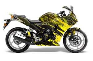 Honda CBR 250R Graphic Kit - 2010-2013 Carbon X Yellow
