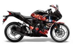 Honda CBR 250R Graphic Kit - 2010-2013 Mad Hatter Red