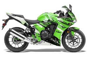 Honda CBR 500R Graphic Kit - 2013-2014 Carbon X Green