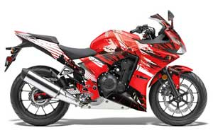 Honda CBR 500R Graphic Kit - 2013-2014 Carbon X Red