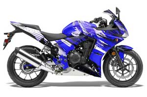 Honda CBR 500R Graphic Kit - 2013-2014 Carbon X Blue