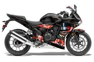 Honda CBR 500R Graphic Kit - 2013-2014 Mad Hatter Black