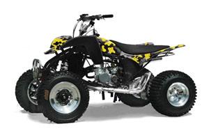 Cobra ECX 50 / 70 / 80 ATV Graphic Kit - All Years Camoplate Yellow